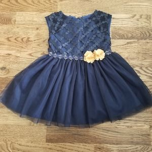 18 Month Navy and Gold Party Dress
